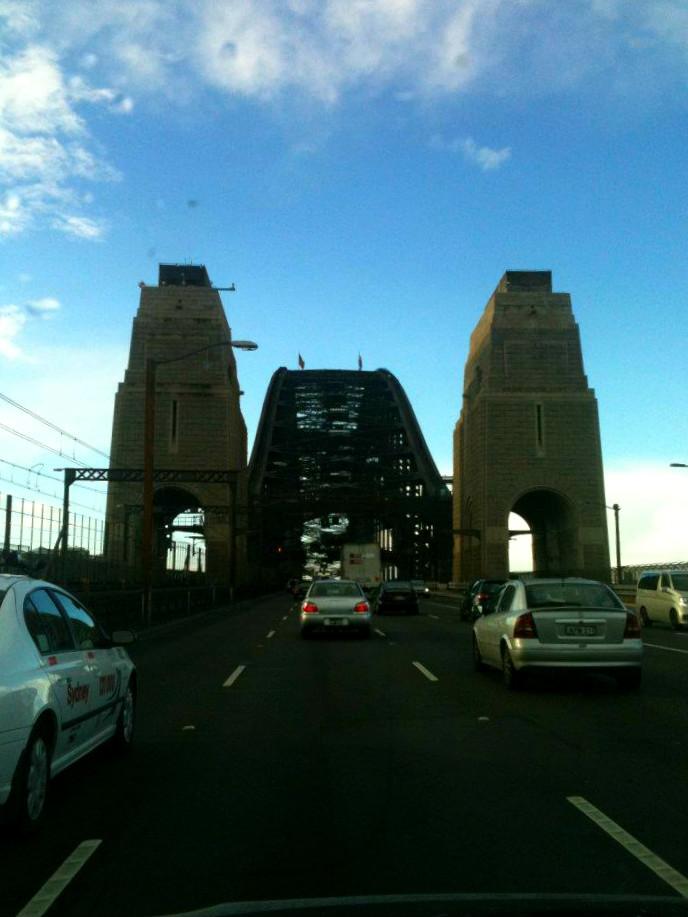 Driving under the Sydney Harbour Bridge