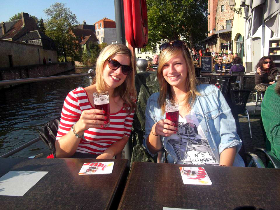Cherry beer with my sister