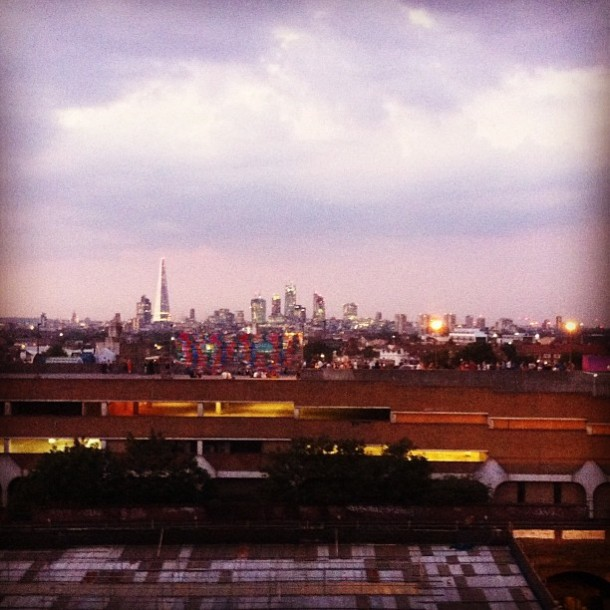 Further afield, this view is from Peckham in the south east