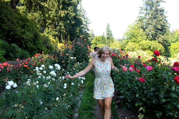 Look at me running through roses - oh, what's that? A camera?