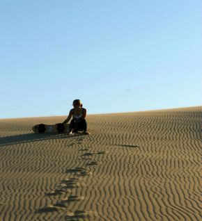 Sandboarding on Oregon's Dunes